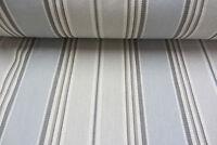 Herringbone Woven Stripe Cotton Dove grey Curtain/Craft Fabric