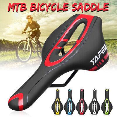Extra Comfort MTB Road Bike Hollow Saddle Seat Leather Racing Pad Gel Cushion !