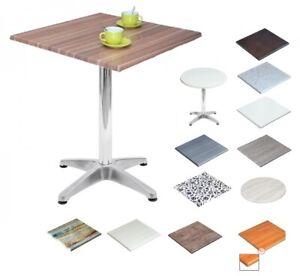 Tavolo Alluminio V-gamba centrale piano 60x60 in verzalit ...