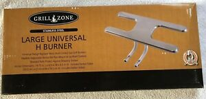 """Char-Broil Grill Universal Fit Large /""""H/"""" Stainless Steel Burner w//tubes 6254 New"""