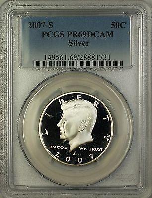 2007 s  silver kennedy half dollar pcgs pr 69