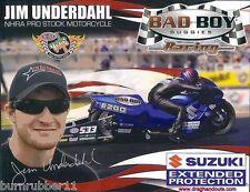 "2013 JIM UNDERDAHL ""BAD BOY BUGGIES"" PRO STOCK MOTORCYCLE NHRA HANDOUT/POSTCARD"