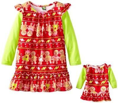 Dollie & Me Girl 4-10 and Doll Matching Christmas Nightgown Pajama American Girl