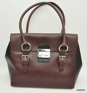 Image Is Loading Claudia Firenze Italy Saffiano Leather Satchel Shoulder Bag