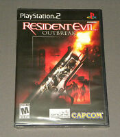 Vintage Ps2 Resident Evil Outbreak Game Playstation 2 Capcom Factory Sealed