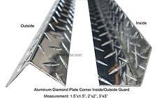 0063 4ft Aluminum Diamond Plate Inside Corner Guard 3003 H22 15x15x48