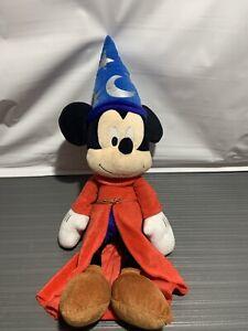 Mickey-Mouse-Fantasia-Sorcerer-14-034-Plush-Stuffed-Toy-Wizard-Walt-Disney-World