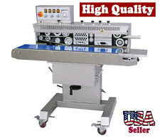 Table Top Stainless Steel Horizontal Band Sealer With Ink Coding Printer And Stand