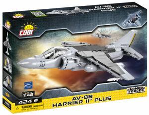 Cobi 5809 - 1:48 Scale AV-8B Harrier II Plus Aircraft (424pcs)  Building Blocks