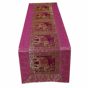 Traditional-Indian-Vintage-Silk-Table-Cloth-Vintage-Table-Runner-Mat-Cover-Decor