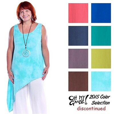 OH MY GAUZE Cotton HAWAII Angled Tank Top 1(S/M) 2(L/XL) 3(1X)  2015 DISC COLORS
