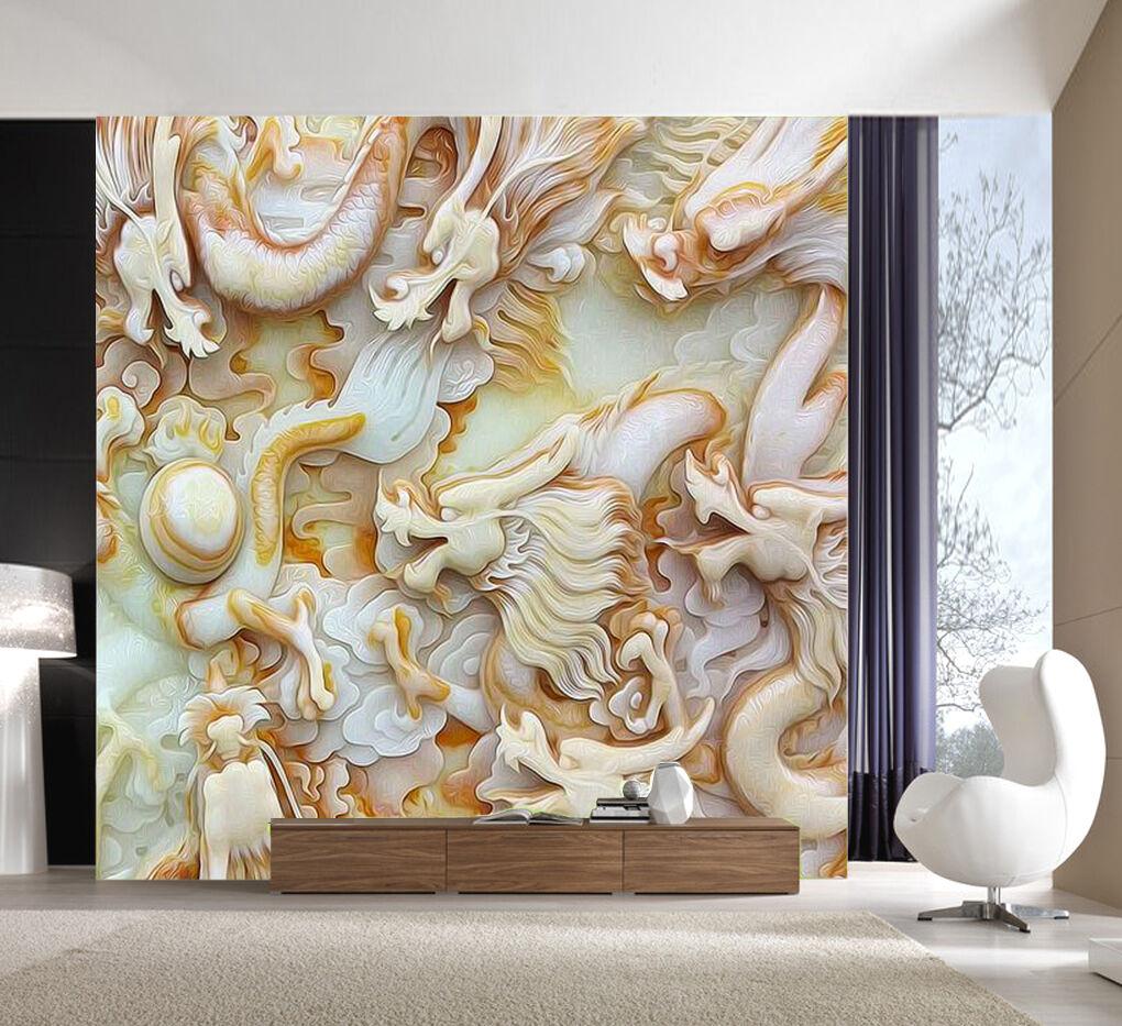 3D Dragon 778 Marble Pattern 7 Wall Paper Wall Print Decal Wall AJ WALLPAPER CA