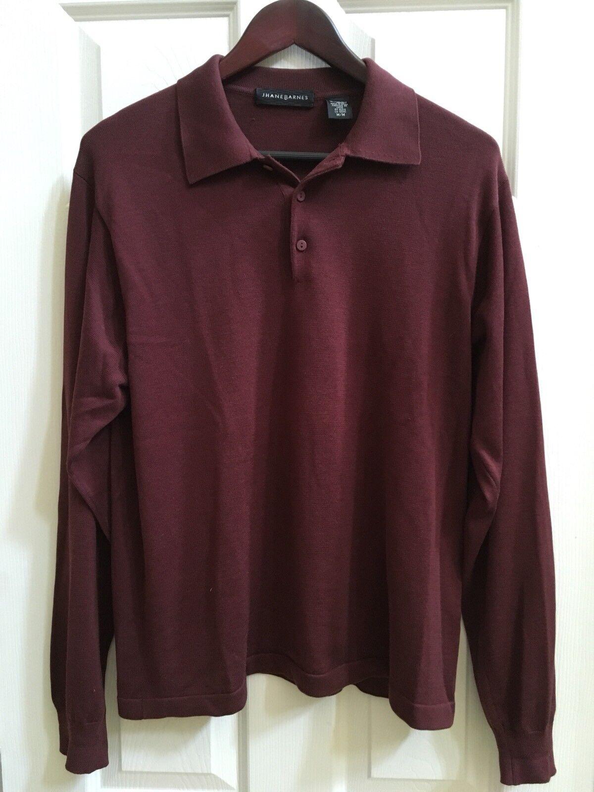 Jhane Barnes  Herren Dark lila Long Sleeves Knit Sweater Größe M A086