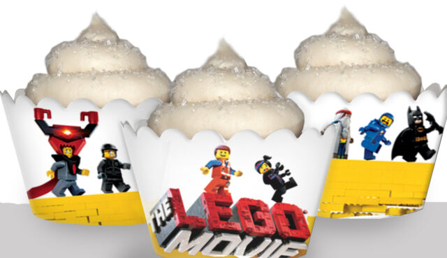 Lego Movie Party 15 Wraps Cupcake Cases Cake Wrappers