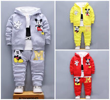 3pcs Baby toddler clothes boys coat+T shirt +pants tracksuit outfits set cartoon