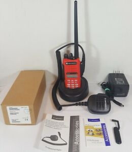 MOTOROLA-HT1250-VHF-136-174MHz-DTMF-Police-Fire-EMS-Two-Way-Radio-AAH25KDH9AA6AN