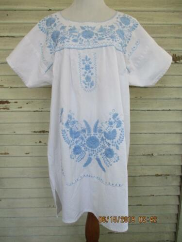Nativa Puebla Mexican Dress Handmade Hand Embroide