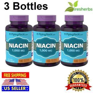 Niacin 1000 Mg Heart Lower Cholesterol Support Pills Dietary