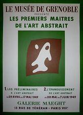 Hans Arp Affiche Lithographie Mourlot art abstrait Grenoble 1949 abstraction