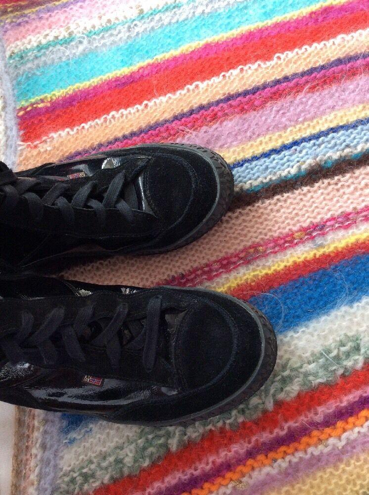 Napapijri STIEFEL 40 Schuhe Boots Stiefeletten Schwarz Lack NEUWERTIG Rarität Boots Schuhe � 38bf4e