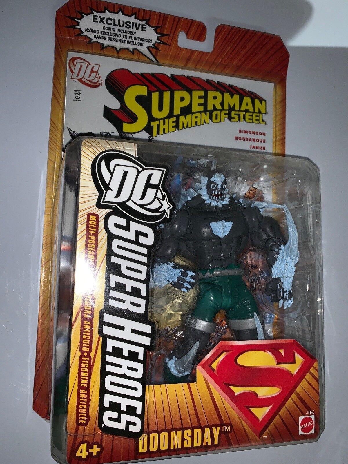 Mattel DC Super Heroes Superman the Man of Steel Steel Steel Doomsday Action Figure Comic fbf407
