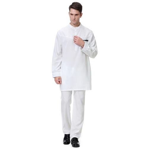 Islam Arab Men Robe Thobe Kaftan Jubba Abaya Muslim Thoub Dubai Daffah Dishdasha