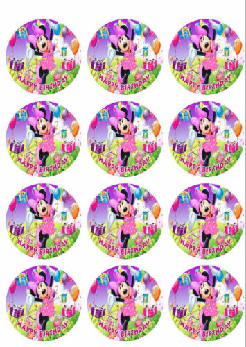 Minnie Mouse Personalized Edible Print Premium Cake Topper Frosting Sheet 5 Size