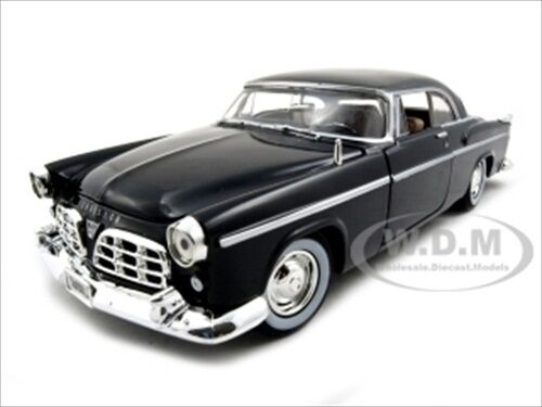 1955 CHRYSLER C300 BLACK 1/24 DIECAST MODEL CAR BY MOTORMAX 73302