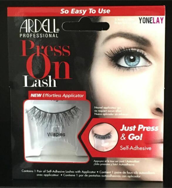 ARDELL Press on Wispies False Eyelashes Self Adhesive with Press & Go Applicator
