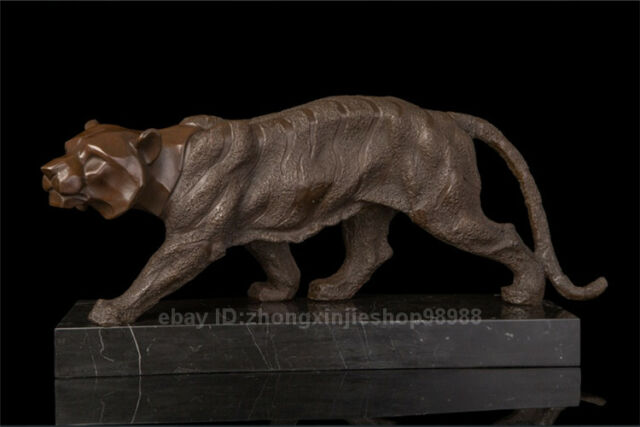 Abstract Art Deco Tiger Animal Tigers Sculpture Bronze Marble Statue Ebay