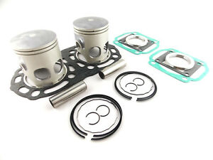 Yamaha-RD-350-YPVS-RZ-1983-1992-Japanese-Piston-Kits-x-2pcs-amp-Top-Gasket-Set