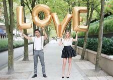 Love Letter - 40 Inch/100cm Foil Wedding Balloons Gold Letters - UK SELLER