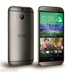 """Unlocked 5"""" HTC One M8 4G LTE Smartphone Android 32GB GSM WIFI Cell Phone GREY"""