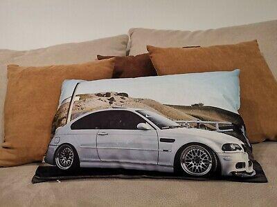 Kissen mit BMW E46 Fahrzeug Motiv TUNING CUSHION PILLOW SOFA COUCH DEKO #282