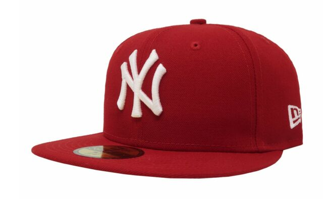 f2fea1e6de6 New Era 59Fifty Cap MLB New York Yankees Mens Womens Scarlet Red Fitted  5950 Hat