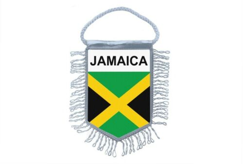 Mini banner flag pennant window mirror cars country banner jamaica jamaican