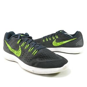the best attitude ae508 659f9 Details about Nike Lunartempo Mens Lightweight Running Shoes Dark Gray Neon  Yellow Size 12