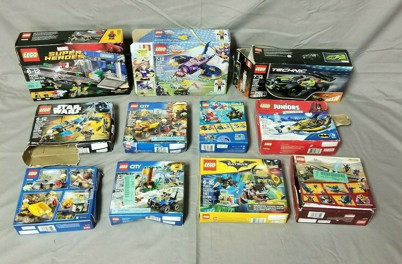 LEGO LOT OF 11 Sets ASSORTED USED Super Heroes Marvel Star Wars