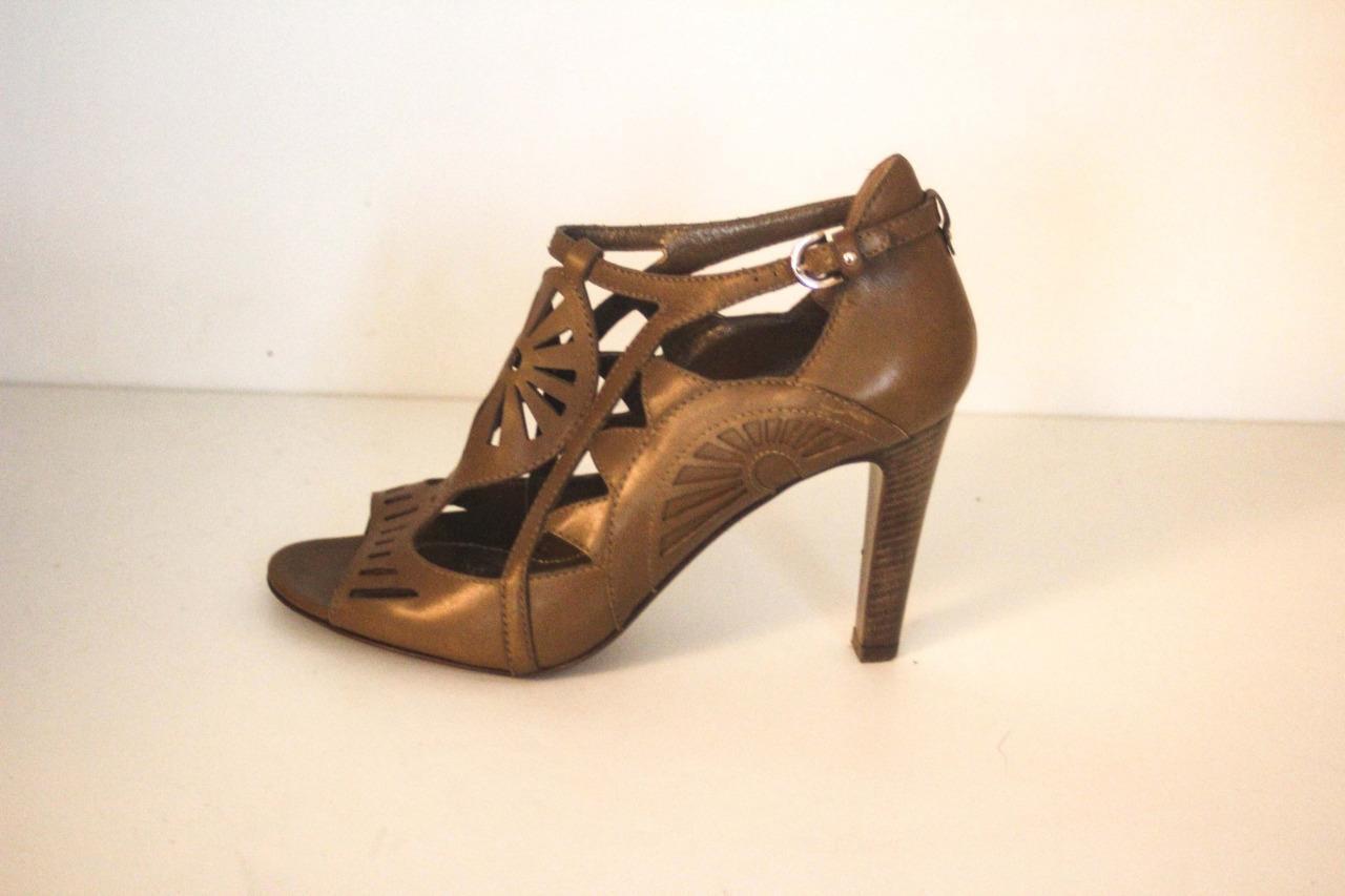 Womans SERGIO ROSSI  braun Leather Cut Out Heels Heels Heels Größe 37   7 629a47