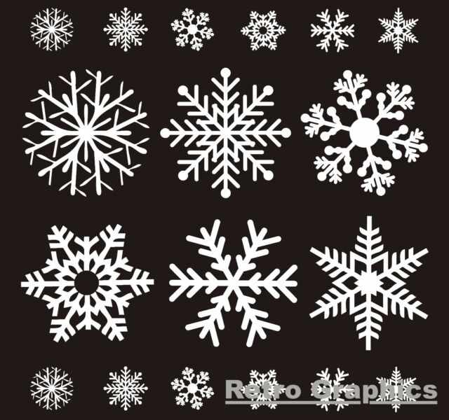 72 reusable white christmas snowflake window stickers decorations cling decal