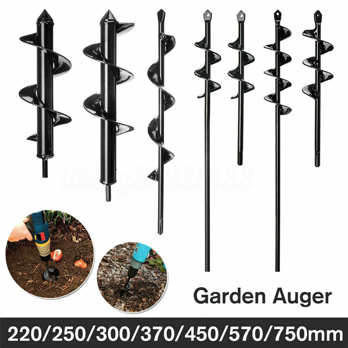 "9""-30"" Planting Auger Spiral Hole Drill Bit For Garden Earth"