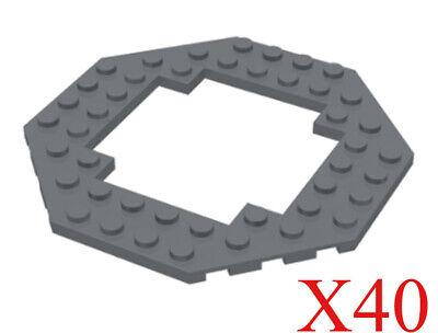 Details about  /NEW Lego DARK BLUISH GRAY 10x10 Octagon PLATE