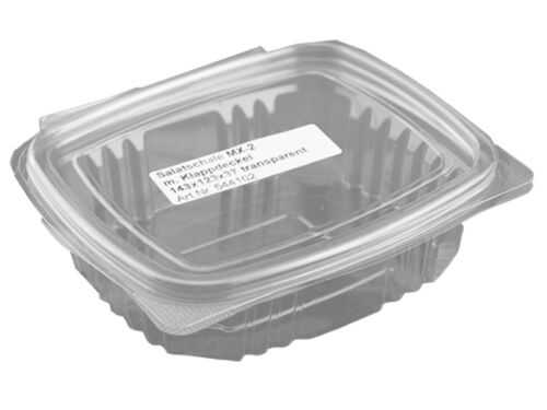 544102 50 Salad Bowls Showcase Folding Tray with Lid Pet 300 ML