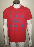 Hollister Men T Shirt Size Xl Red Free Usa Shipping
