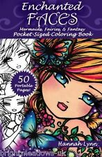 Enchanted Faces Travel Size Holiday Adult Colouring Book Creative Art Therapy