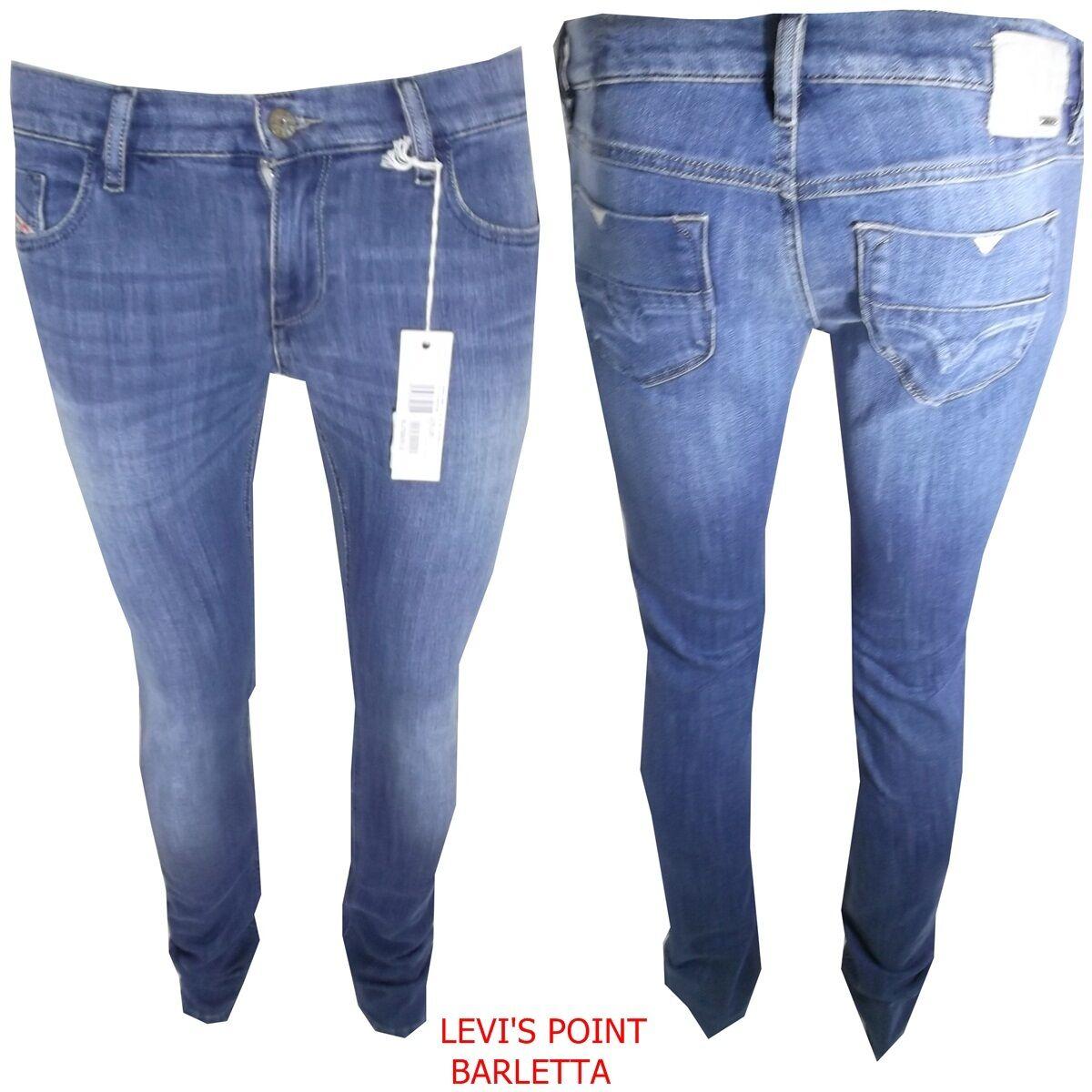 Jeans diesel livy donna stretch elasticizzato diritto azzurro W29 W30 W31 W32