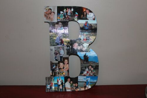 "13"" Personalized Photo Wrapped Wooden Letter, Graduation Gift, Bar mitzvah gift"