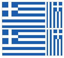 4 X griego Grecia Bandera Pegatina de vinilo coche furgoneta Ipad Laptop