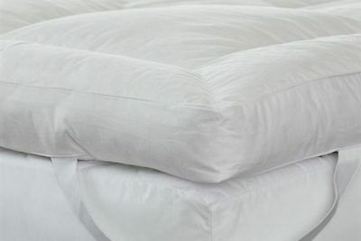 "Nouveau Luxe 4/"" Extra Profond 100/% microfibre Silk like Down Surmatelas GRATUITE PP"