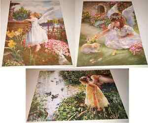 Details about Sandra Kuck Set of 3 RARE Garden Angels, Little Girls 12x16  posters OUT OF PRINT